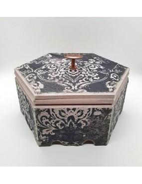 Caja hexagonal DM Damasco